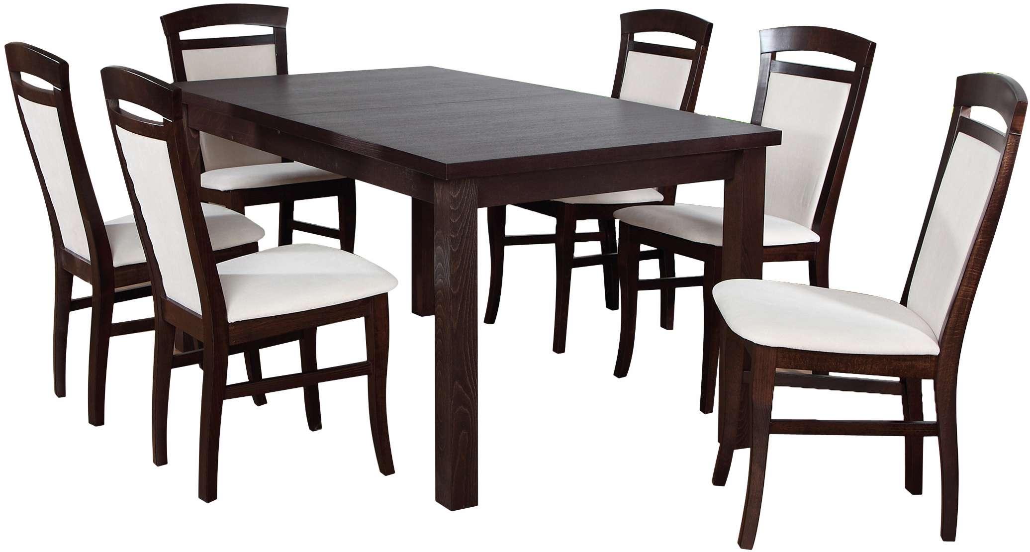 Zestaw Stół Z Krzesłami Dla 6 Osób Orzech Ciemny Z013