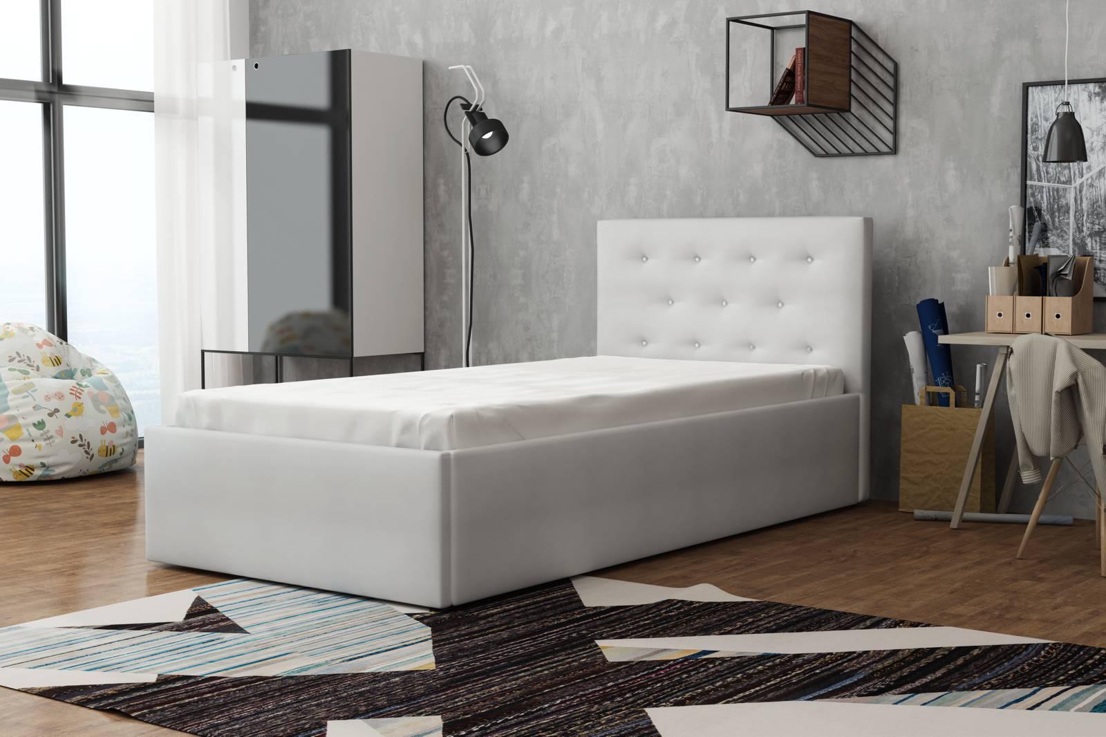łóżko Młodzieżowe Z Materacem 90 X 200 Star